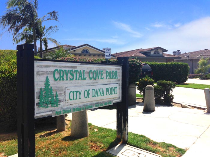 Crystal Cove Park in Dana Point, California
