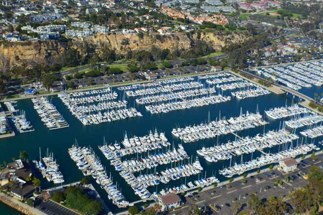 Aerial View of the Dana Point Harbor in Dana Point, California