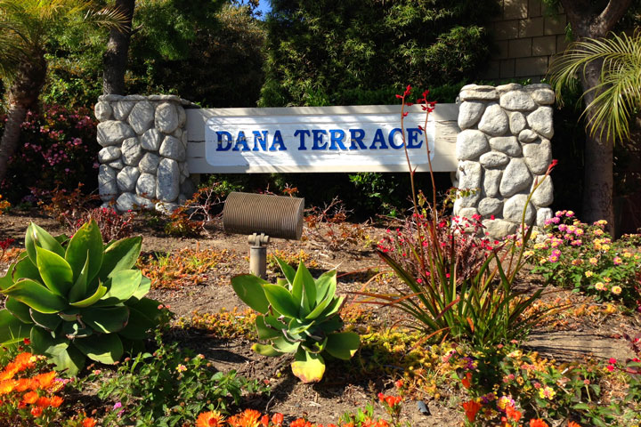 Dana Terrace Community Sign | Dana Point Real Estate