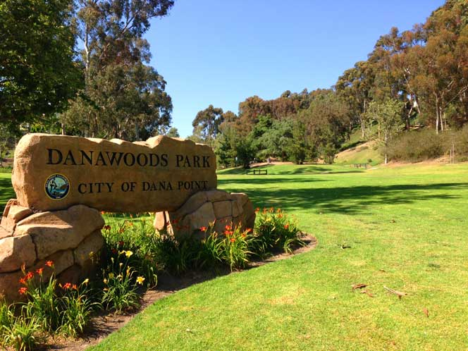 A View of the Large Dana Woods Park area in Dana Point, California