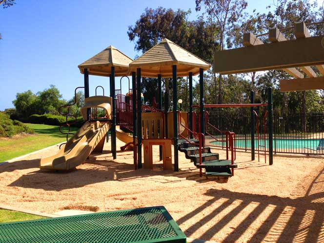 View of the Dana Woods Children's Play area in Dana Point, California