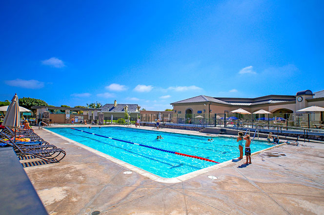 Niguel Shores Community Pool in Dana Point, California