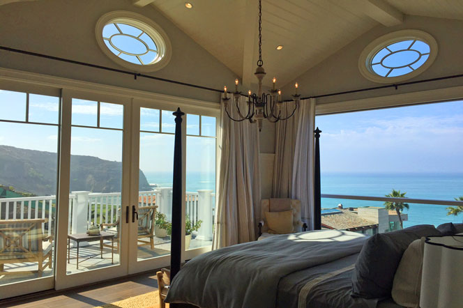 North Strand Home For Sale in Dana Point, California.  View of Ocean View Master Bedroom.