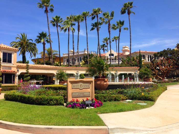 Ritz Cove Community Guard Gated Entrance in Dana Point, California