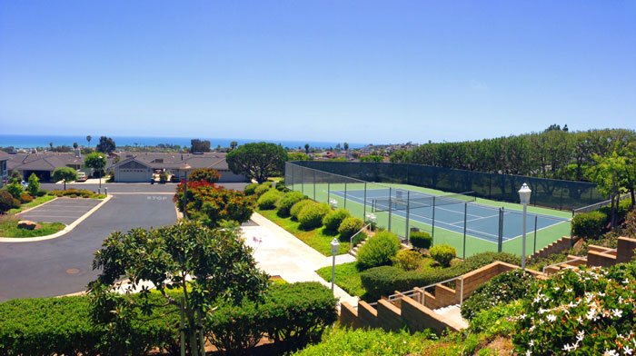 Sea Ridge Community Tennis Court in Dana Point, California