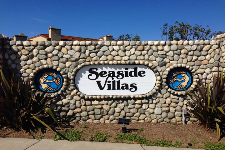 Seaside Villas Community Entrance Sign | Dana Point Real Estate