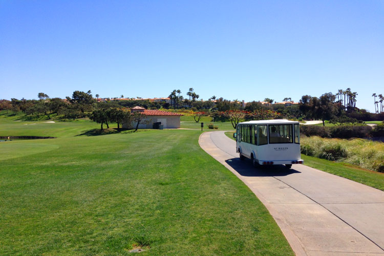 St Regis Tram To The Monarch Bay Clubhouse in Dana Point, Ca