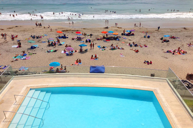 The Strand at Headlands Oceanfront Community Pool in Dana Point, California